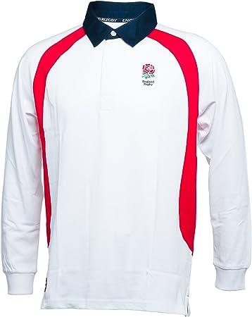 Inglaterra Rugby Camisa de Rugby de Manga Larga para Mujeres, Color Blanco, 2 XL: Amazon.es: Deportes y aire libre