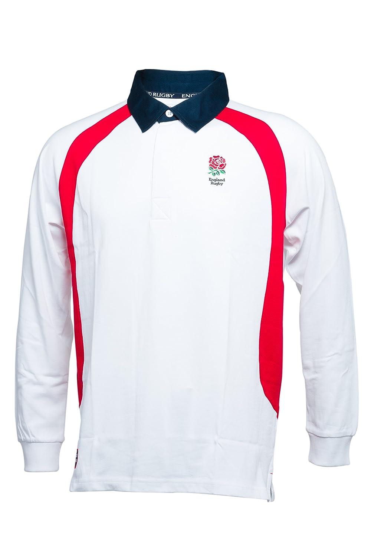 Inglaterra Rugby Camiseta de Rugby de Manga Larga, Color Blanco, 2 ...