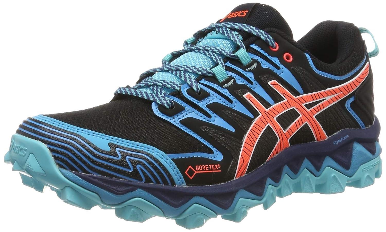 Asics Gel-Fujitrabuco 7 G-TX, Zapatillas de Running para Mujer, Negro (Black/Aquarium 002), 39 EU: Amazon.es: Zapatos y complementos