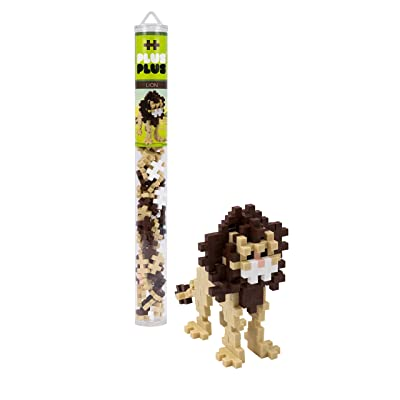PLUS PLUS – Mini Maker Tube – Lion – 70 Piece, Construction Building STEM | STEAM Toy, Interlocking Mini Puzzle Blocks for Kids: Toys & Games