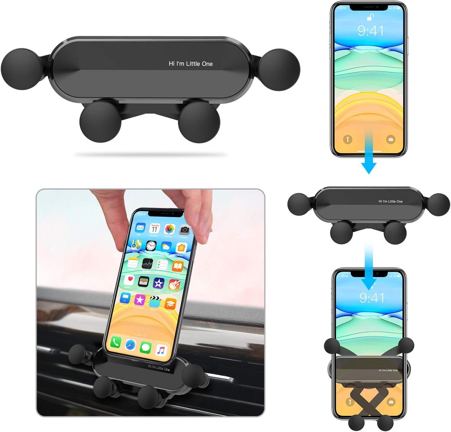 Ossky Soporte Móvil Coche, Universal Soporte Móvil Coche ventilacion Gravedad, Porta Movil Coche para Rejillas del Aire de Coche para iPhone, Android, Samsung, Huawei, etc. de 4.7 a 6.5Pulgadas