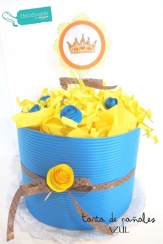 Tarta de Pañales DODOT con Cremas Weleda| Personalizable con Nombre del Bebé | Elige Tú el Color de la Tarta y la talla de los Pañales!