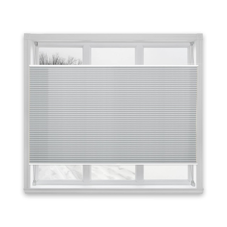 casa pura® Semi-Translucent Pleated Blind, Plissee Magic - Light Grey, 110 x 200 cm | 8 Sizes Available