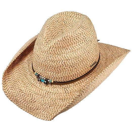 Stetson Glenrio Western Raffia Hat Summer Sun  Amazon.co.uk  Clothing 32df8f14d03a