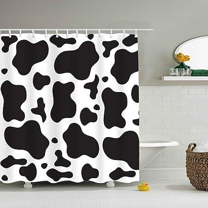 Cow Print Bandana Shower Curtain Extra Long Bath Decorations Bathroom Decor Sets With Hooks Marriage
