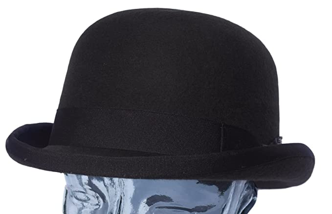 38fc5c8cbc212f 100% Firm top Wool Dark Brown Bowler Derby hat - Medium Approx 58cm:  Amazon.co.uk: Clothing