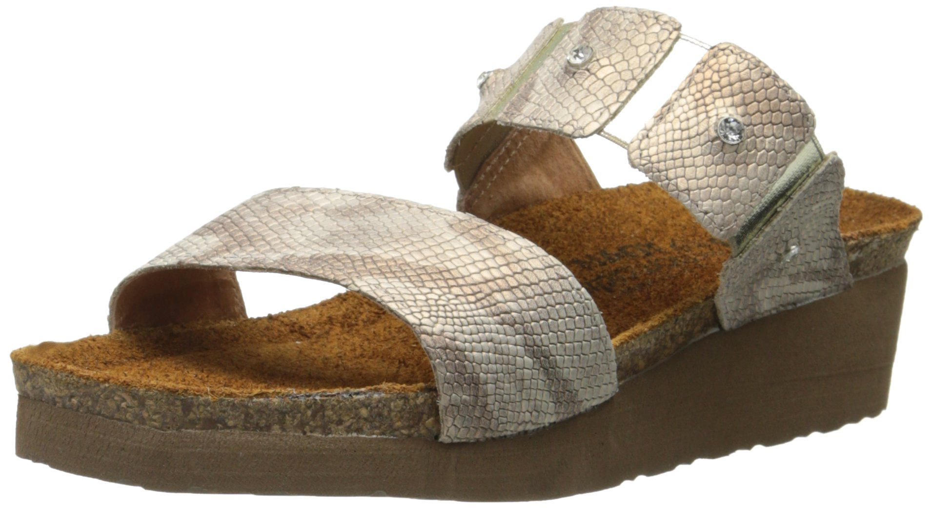Naot Women's Ashley Sandal, Beige, 38 EU/7 M US