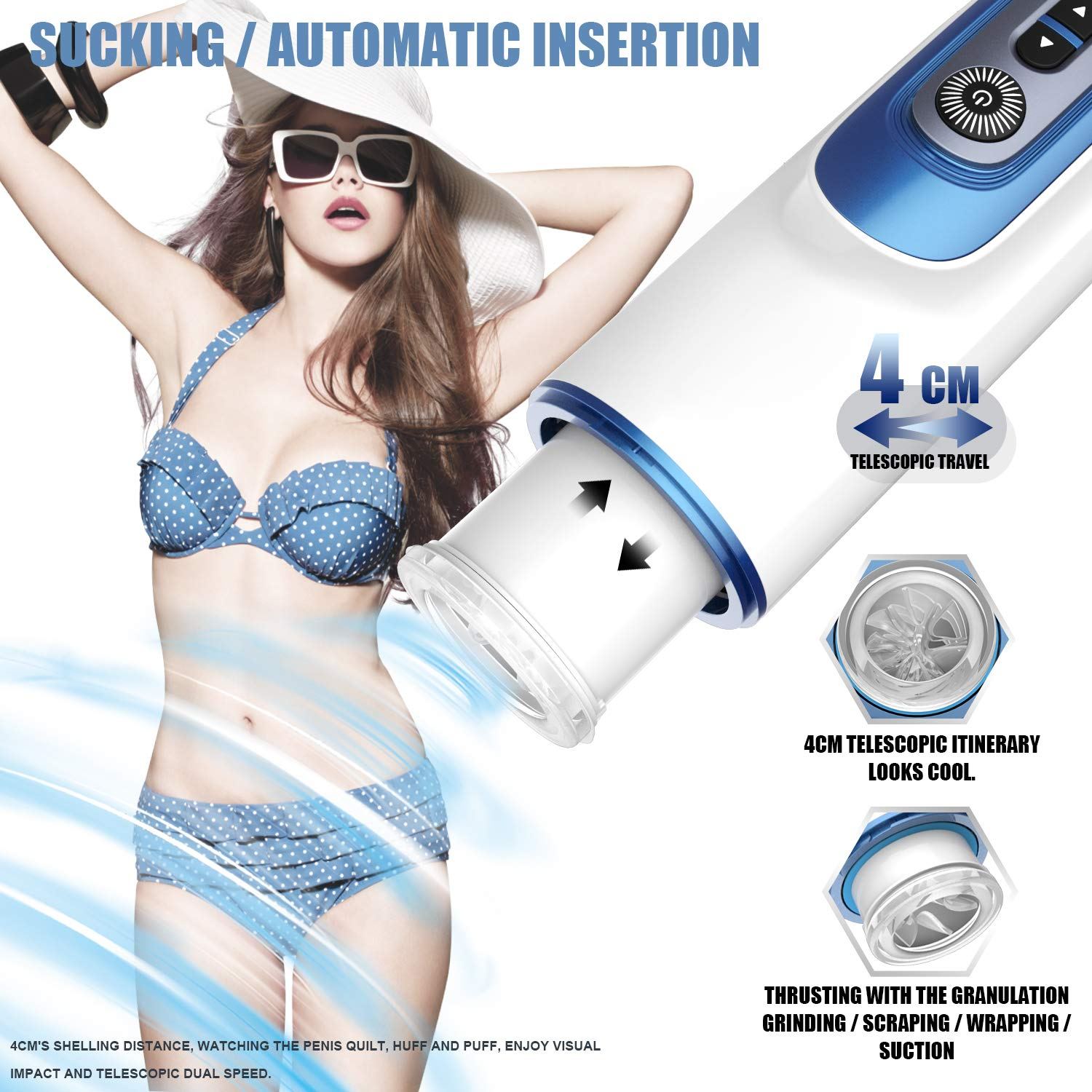 Sili Heat Male Sucker Or*al Ton*GUE Deep Throat Lip Sucking Toy Safe Silicon Trainer Artificial Vigina Real Pussy Male Man Sexy Underwear for Men,Best Rated for Travel Gift -Party Gift-T-Shirt by RXDong