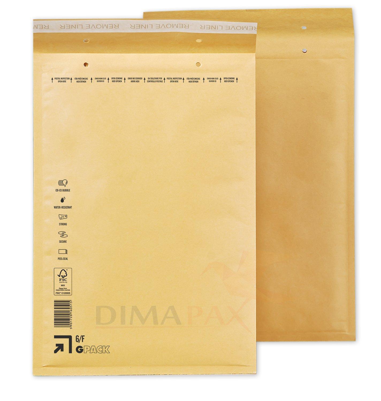 Luftpolstertaschen Versandtaschen braun wei/ß alle Gr/ö/ßen w/ählbar dimapax 50 x G7, wei/ß
