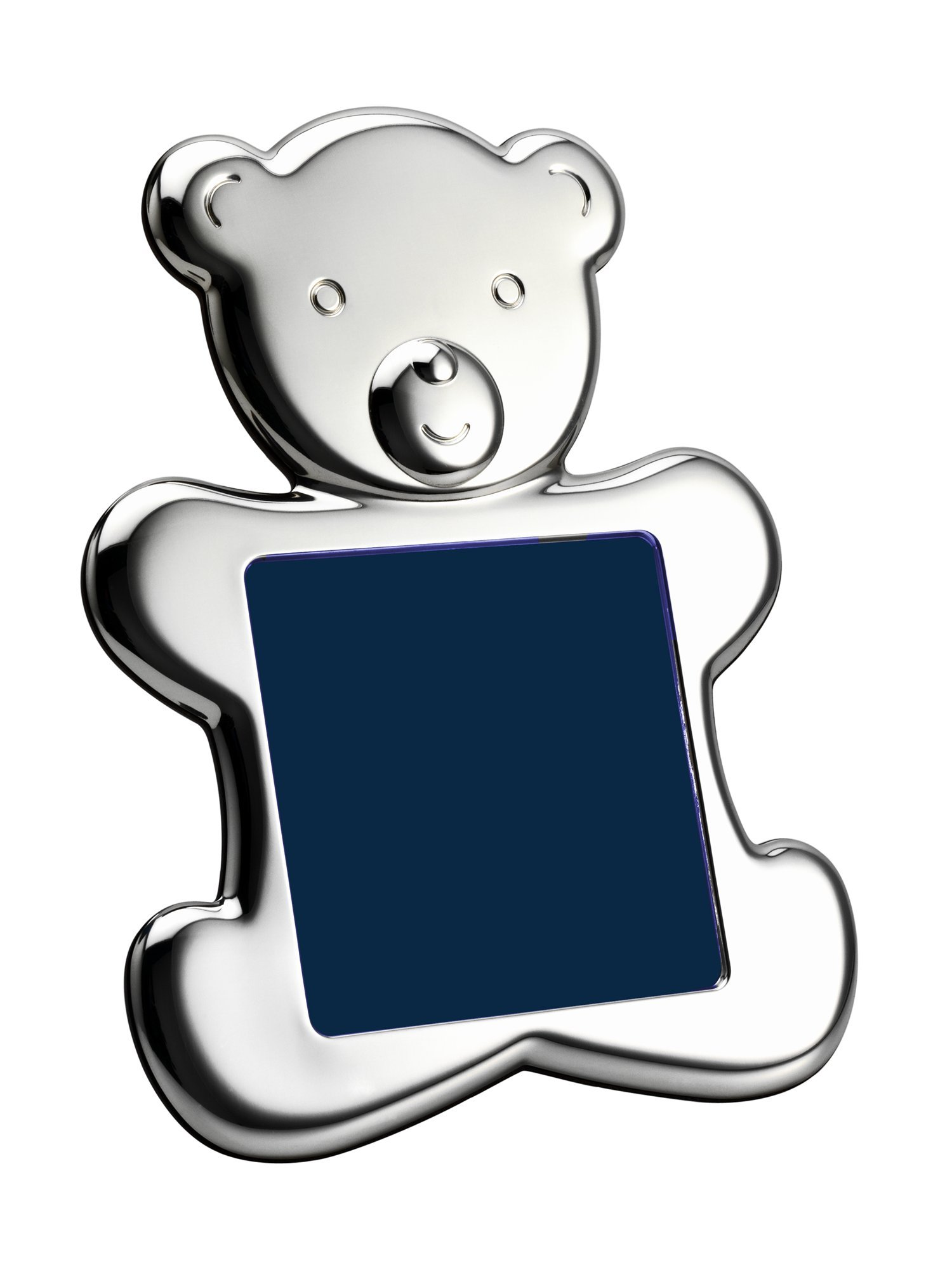 Cunill Silver Teddy Bear Silhouette Frame for 4 by 4-Inch Photograph, Sterling Silver