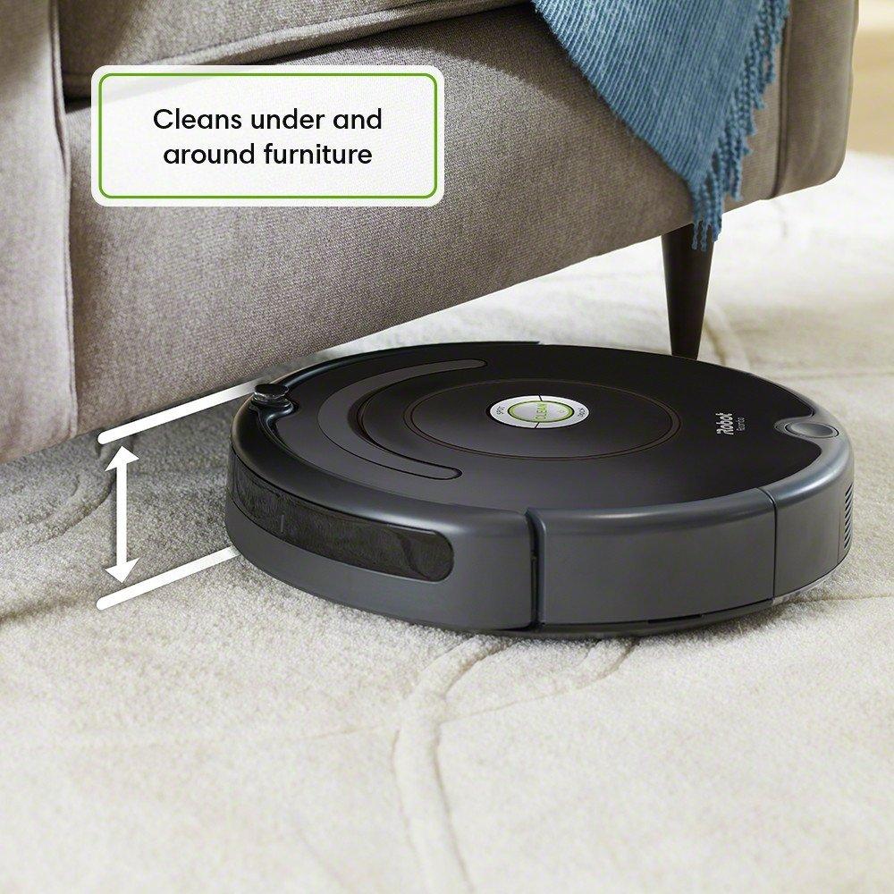 Self-Charging Hard Floors Carpets iRobot Roomba 614 Robot Vacuum- Good for Pet Hair