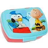 """Lunchbox / Brotdose - """" Peanuts / Snoopy """" - Brotbüchse Küche Essen - für Mädchen & Jungen - Charlie Brown - Woodstock Beagle Hund - Kinder Vesperdose - Brotzeitdose / Fach - Sandwichbox - Vorratsdose - Boxen / Vesperbrotdose Frühstück - Jausenbox"""