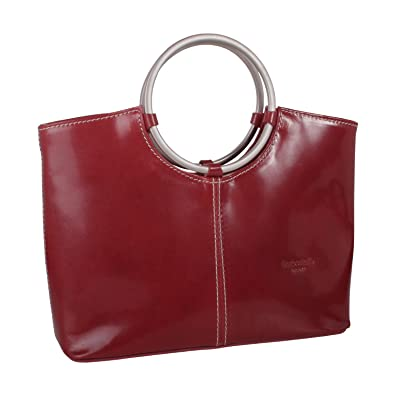 d04180e0f1 Image Unavailable. Image not available for. Color  Italian Leather Handbag  ...