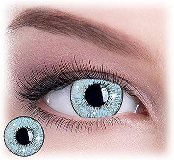 Mystic Blue Glimmer - Lentillas de color Mystic Blue Glimmer Eyes4You®, sin dioptrías pack de 2 unidades - cómodas y perfectas para Halloween, Carnaval, sin corregir: Amazon.es: Salud y cuidado personal