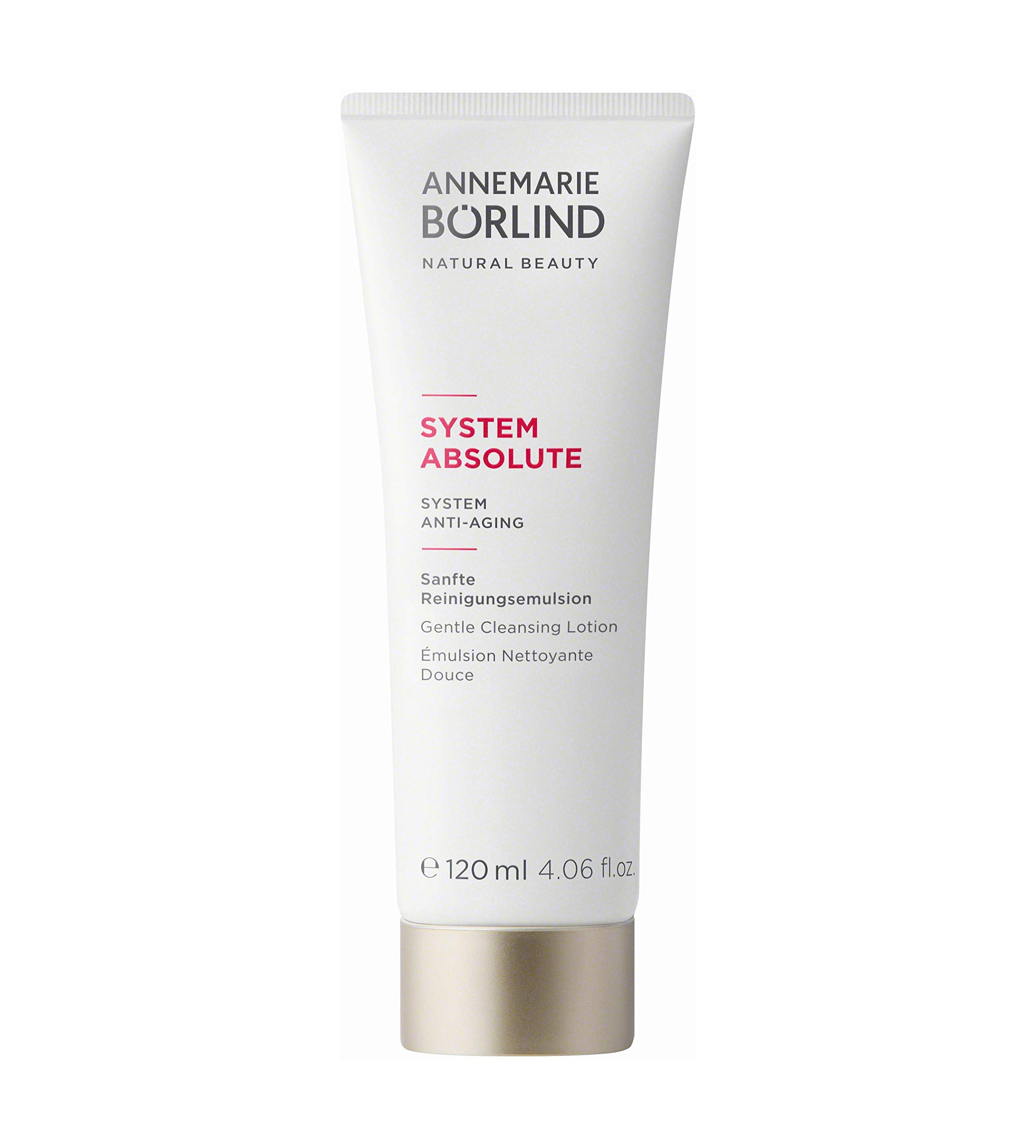 ANNEMARIE BÖRLIND - SYSTEM ABSOLUTE Gentle Cleansing Lotion - Vitamin A + C + E Natural Vegan Face Cleanser - Removes Impurities and Makeup with Mild Tensides - 4.06 Fl. Oz.
