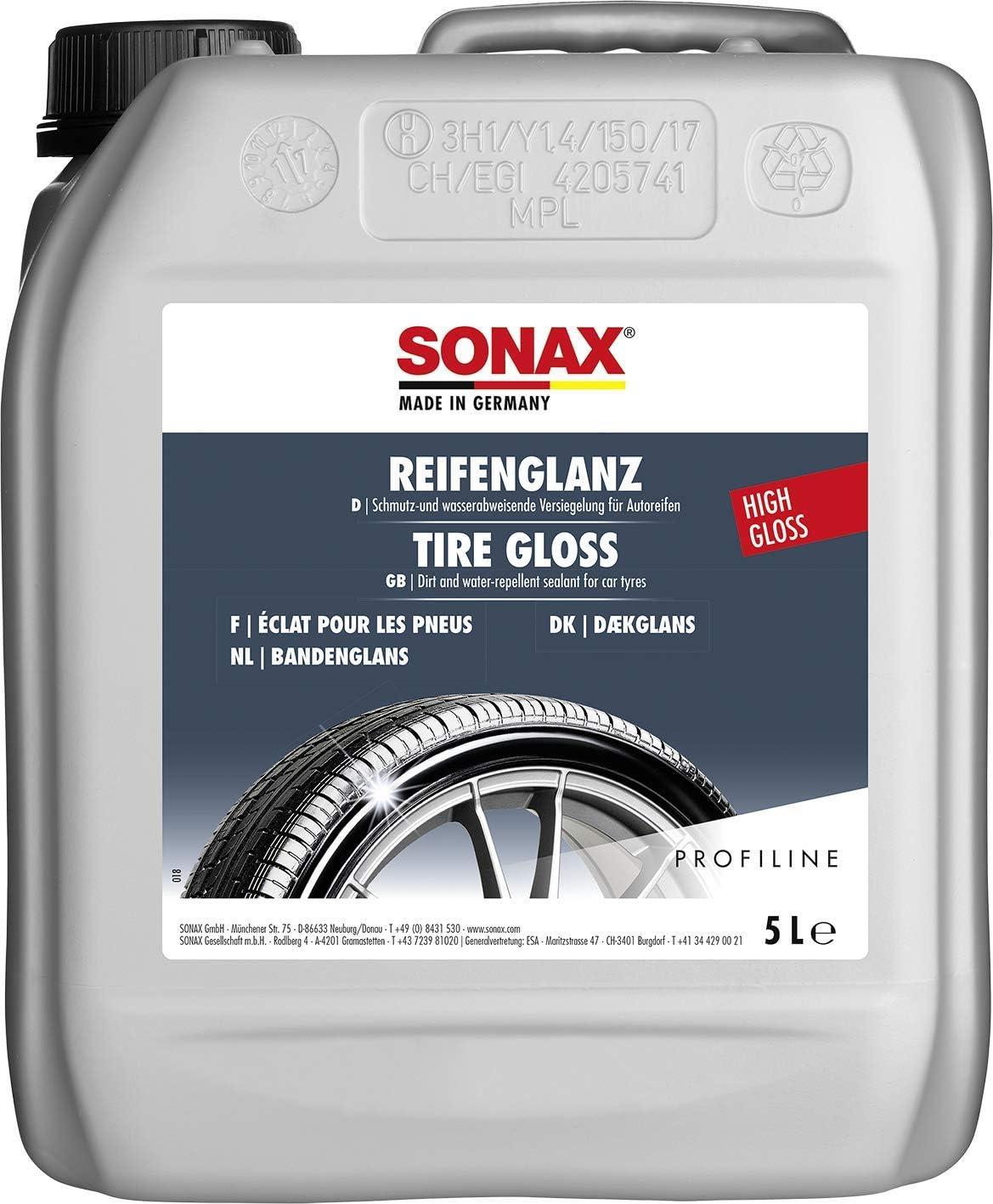 Sonax Profiline Reifenglanz 5 Liter Bringt Bei Verwitterung Die Satte Farbe Zurück Und Sorgt Für Perfekten Glanz Art Nr 02355000 Auto