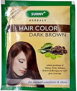 Buy Bakson S Sunny Herbals Hair Colour Dark Brown 20g Pack Of 5