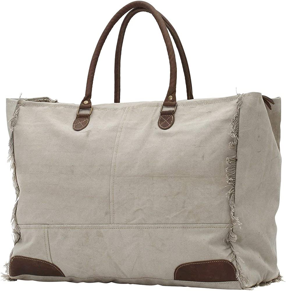 Myra Bags 13.05 Received Upcycled Canvas Weekender Bag S-0775