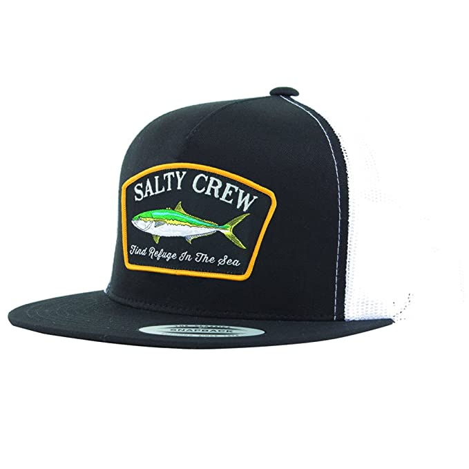 san francisco 11727 87d77 Salty Crew Men s Mossback Trucker Hat, Black White, One Size