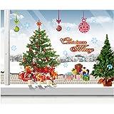 DoTech DIY Natale Adesivi Murales Rimovibili Albero di Natale Adesivo per Decorazione di Natale Adesivi Murali (Albero di Natale)