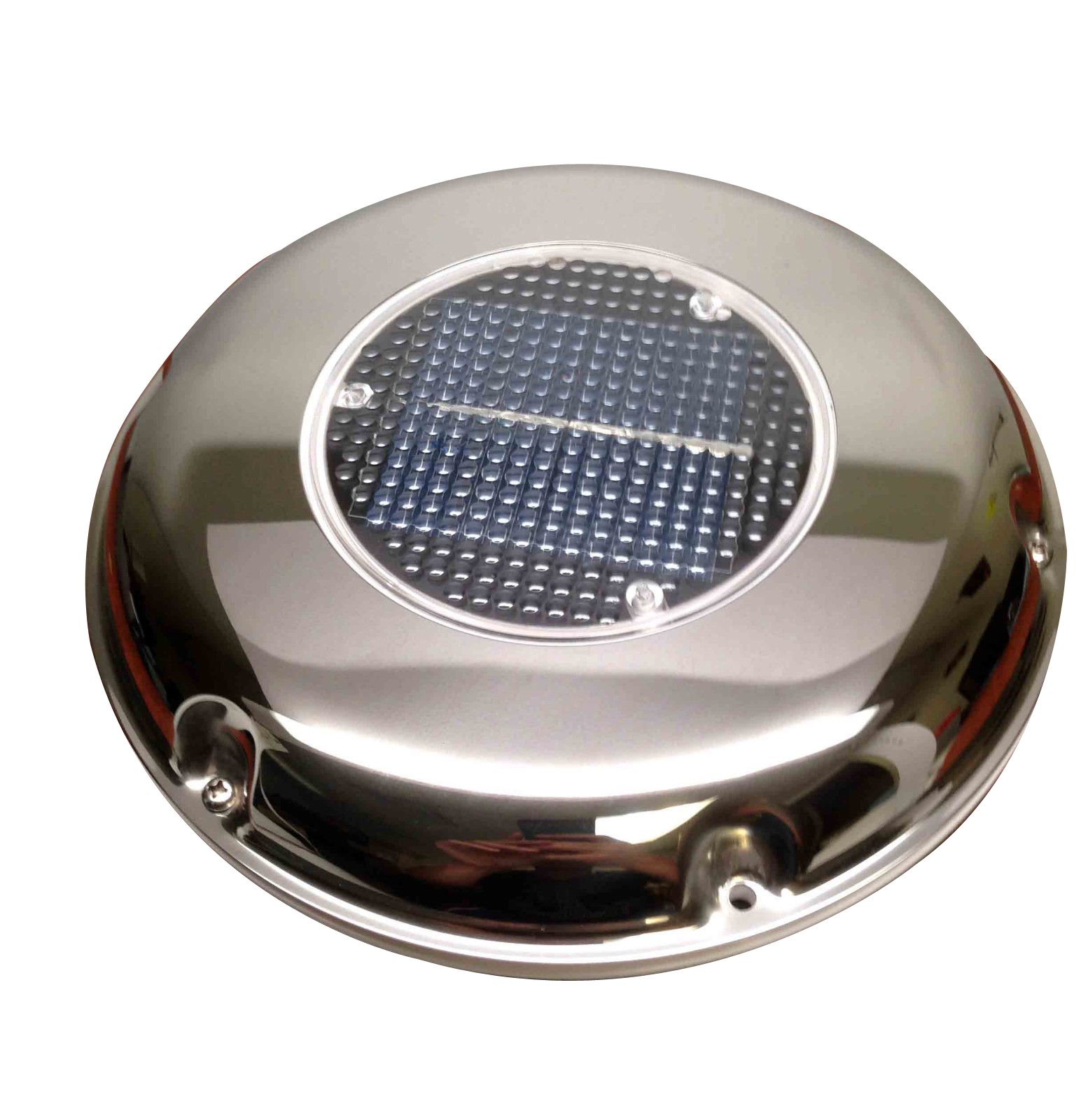 Pactrdae Marine Boat Rechargeable Solar Powered Stainless Steel Ventilator II by Pactrade Marine