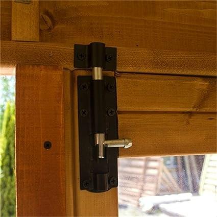 7 pies x 7 ft Premier de madera esquina jardín lugar de descanso (10 mm sólido OSB suelo y techo): Amazon.es: Jardín