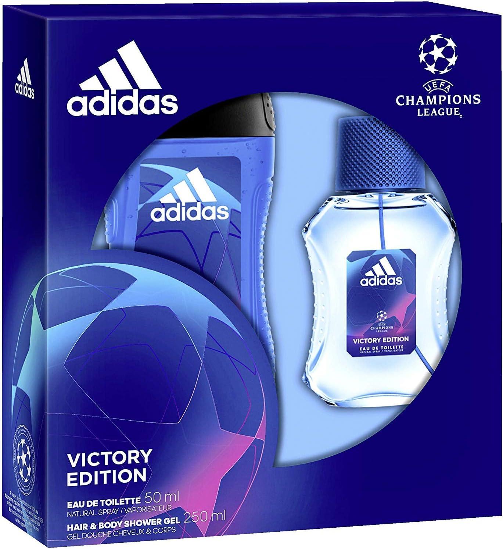 pálido posición Almeja  Adidas UEFA Champions League Victory Edition Men's Gift Box - eau de  toilette 50 ml and shower gel 250ml: Amazon.co.uk: Beauty