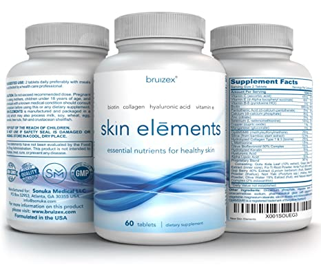 Amazon.com: Skin Elements by Bruizex: Vitamins for Skin Care, Repair and Rejuvenation with Anti-Aging and antioxidants, Anti-inflammatory Supplements: Best ...