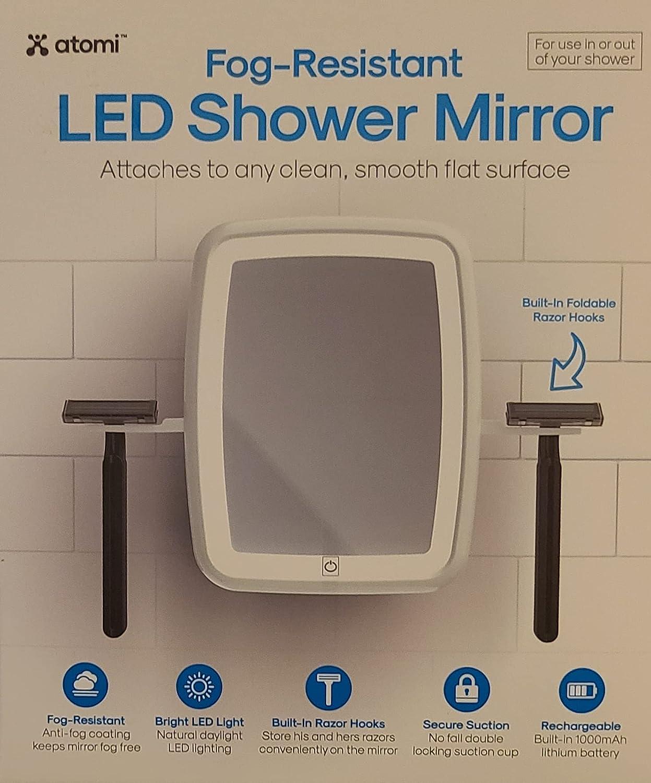 Fog-Resistant LED Shower Mirror -