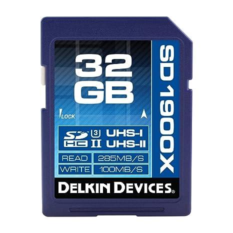Delkin 1900 x UHS-I/UHS-II U3 Tarjeta de Memoria SDHC de 32 ...