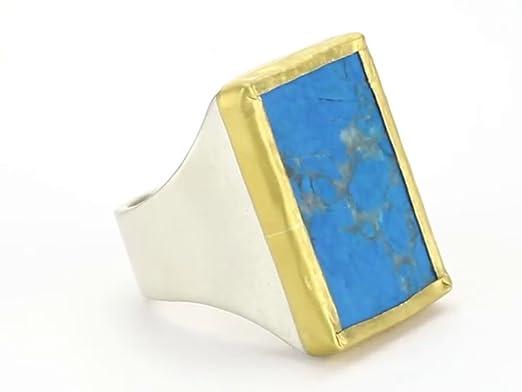 Amazoncom Nava Zahavi Diva Large Turquoise Sterling Silver and
