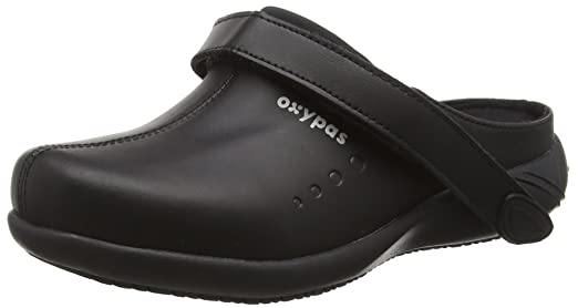 Oxypas Gr/ö/ße: 36 EU schwarz schwarz Damen Clogs /& Pantoletten