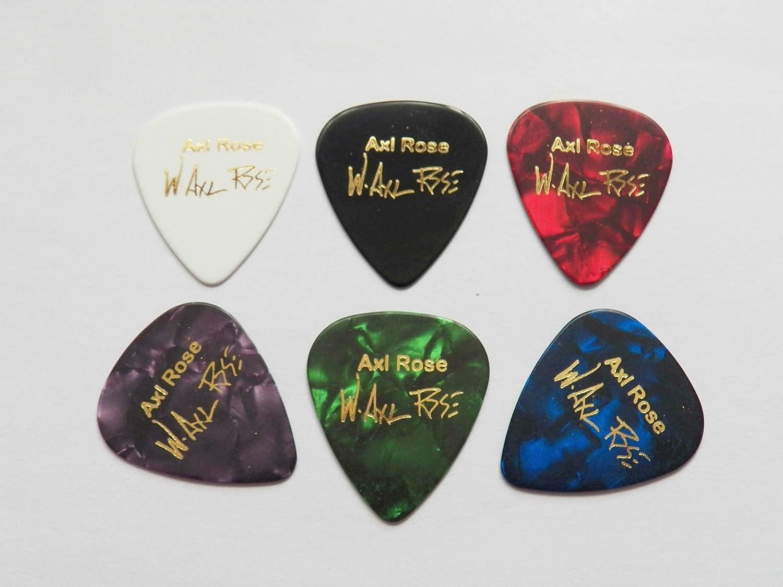 Axl Rose Guns N Roses AC/DC Unterschrift bedruckt Plektrum Plektren ...