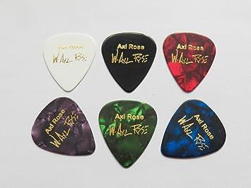 Axl Rose Guns N Roses AC/DC Firma estampada púa púas para guitarra ...