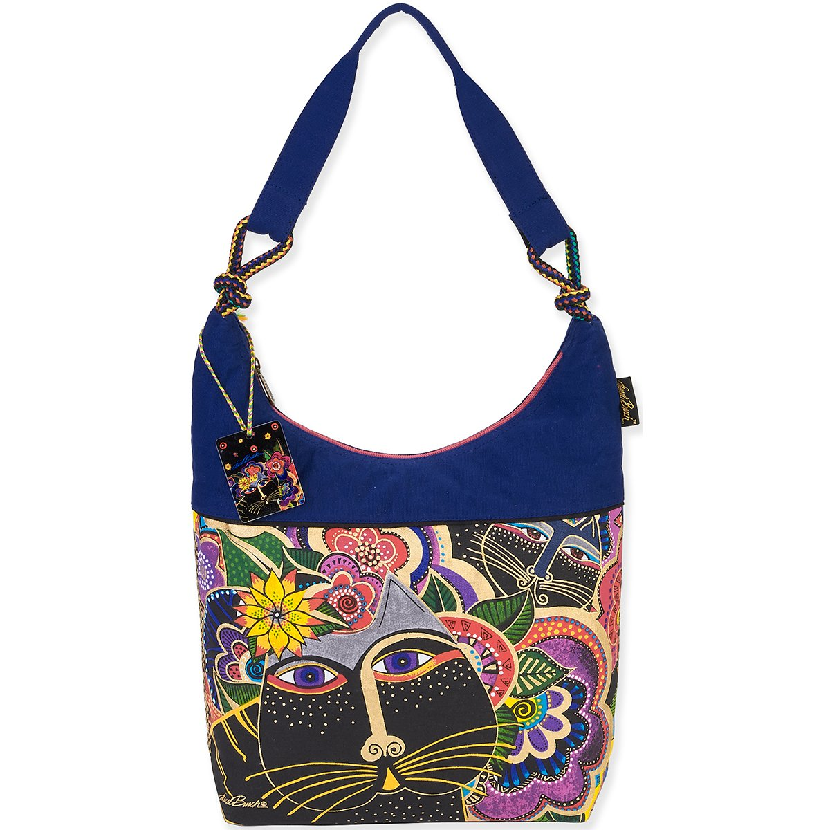 Laurel Burch Scoop Tote, 12.5 by 16 by 3.5-Inch, Carlotta s Cats
