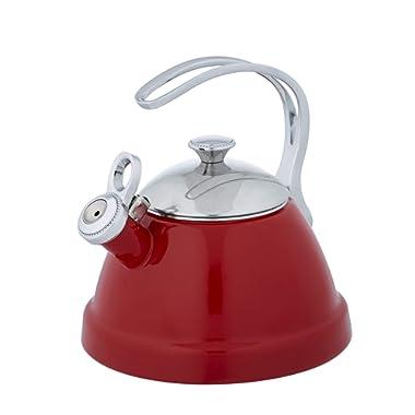 Copco 5213771 Beaded Tea kettle, 2 Quart, Red