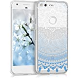kwmobile Crystal TPU Silicone Case for Google Pixel in Design Indian sun blue white transparent