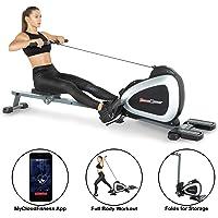 Fitness Reality 1000 Plus Máquina de Remo magnética con Bluetooth con Ejercicios de Cuerpo Completo Opcionales extendidos y aplicación Gratuita