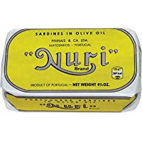 """""""Nuri"""" Portuguese Sardines- Many Flavors Available with Sriracha Packets & Utensils, Salt & Pepper Bundle Pack (Pack of…"""