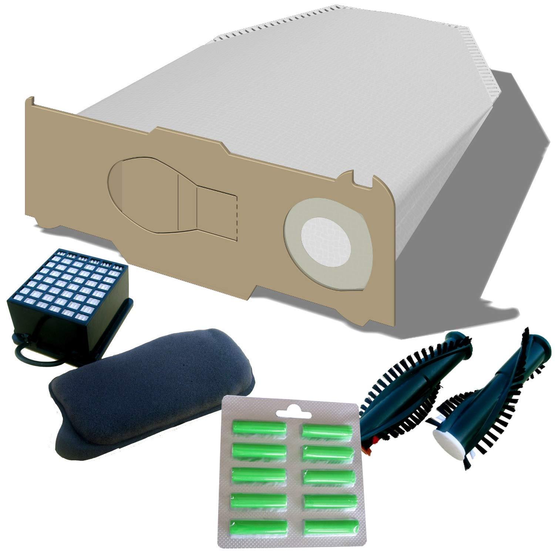 Kabel geeignet für Vorwerk Kobold 130//131 30 Tüten//Duftis 2 Bürsten 2 Filter