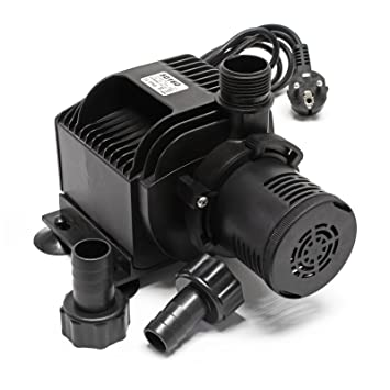 Teichpumpe Bachlaufpumpe Wasserpumpe Filter Pumpe Energiespar 10000L//H Schwarz