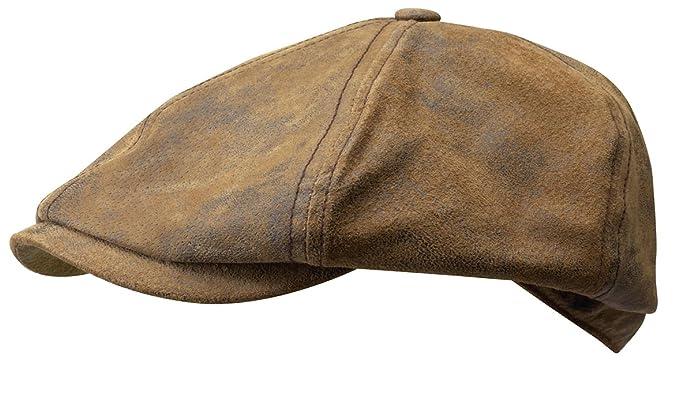 Stetson Lanesboro PigSkin - Gorra Newsboy para hombre - marrón: Amazon.es: Ropa y accesorios