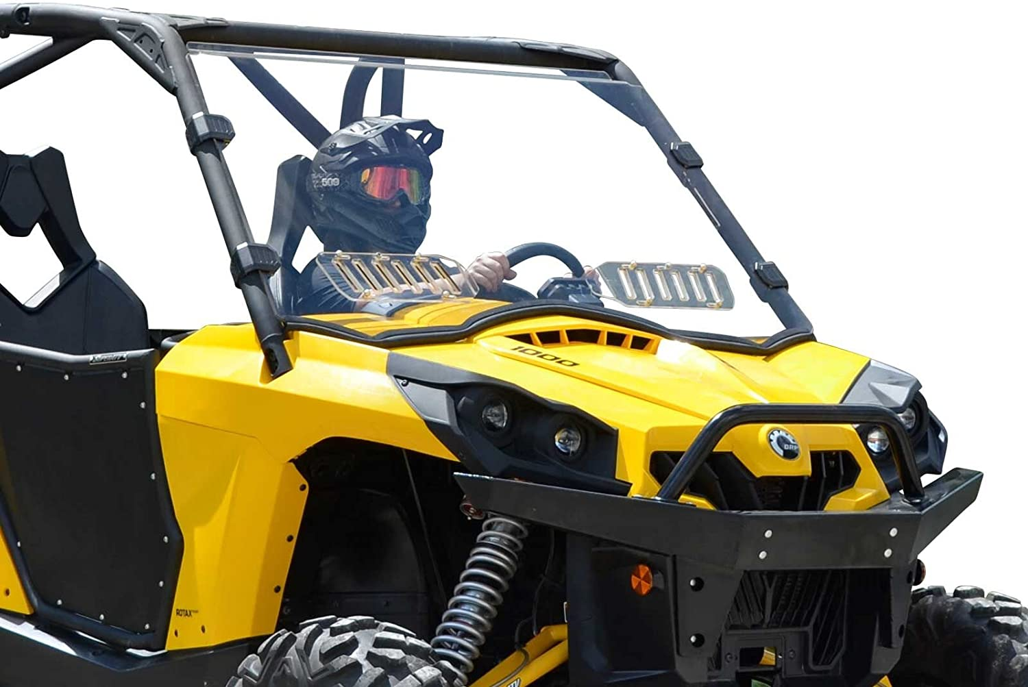 "CAN AM COMMANDER 3//16/"" CLEAR LOWER FRONT WINDSHIELD UTV OFFROAD CANAM 800 1000"