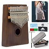 AKLOT Kalimba 17 Teclas Pulgar Piano Marimbas Madera Maciza Instrumento africano Mbira Profesional Finger Piano Con…