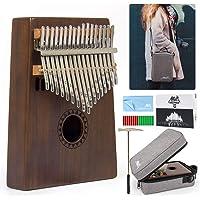AKLOT 17 Touches Clés Kalimba, Professionnel De Haute Qualité Doigt Pouce Piano Instrument de Musique Cadeau pour les enfants adulte avec sac à bandoulière
