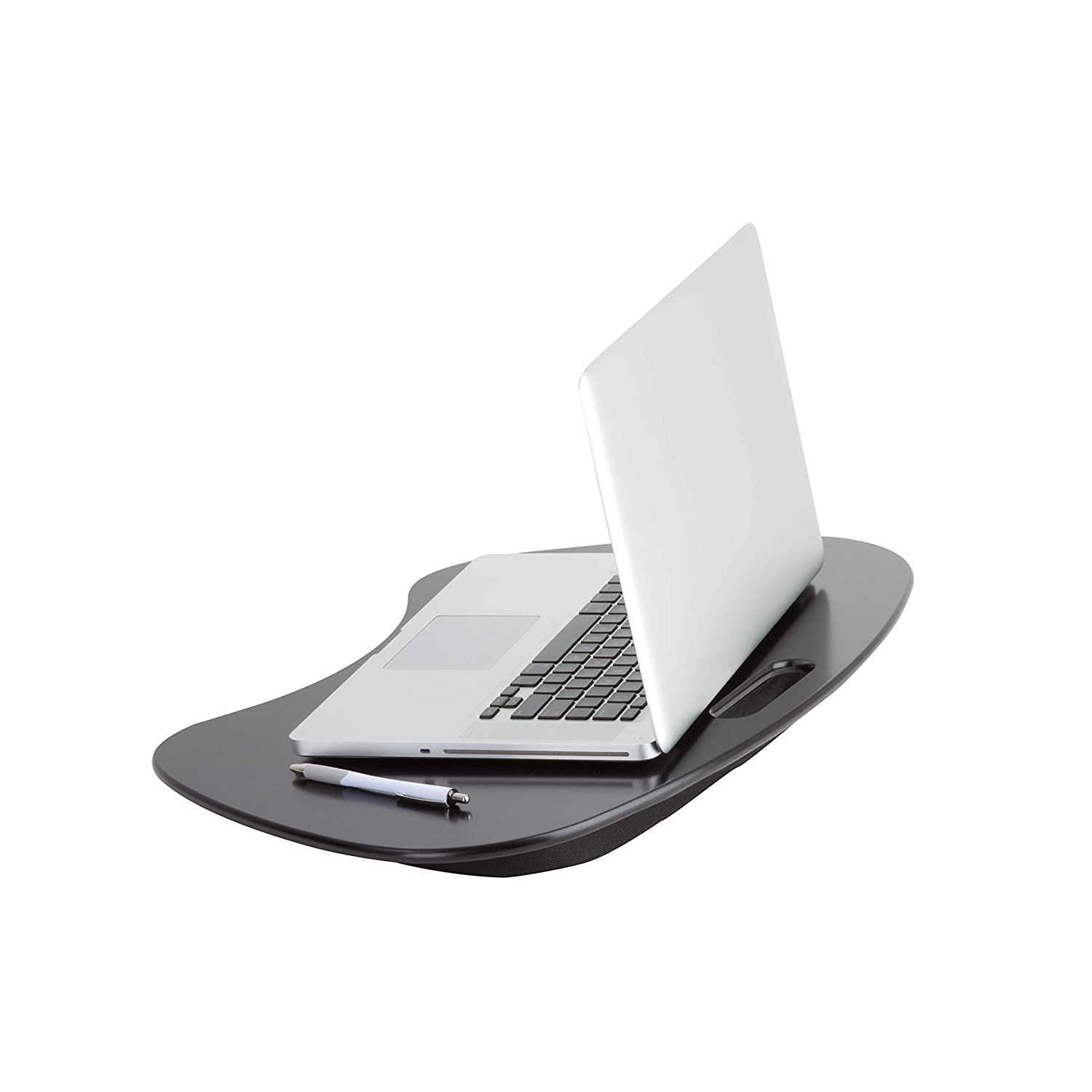 Honey-Can-Do TBL-02869 Portable Laptop Lap Desk with Handle, Black, 23 L x 16 W x 2.5 H