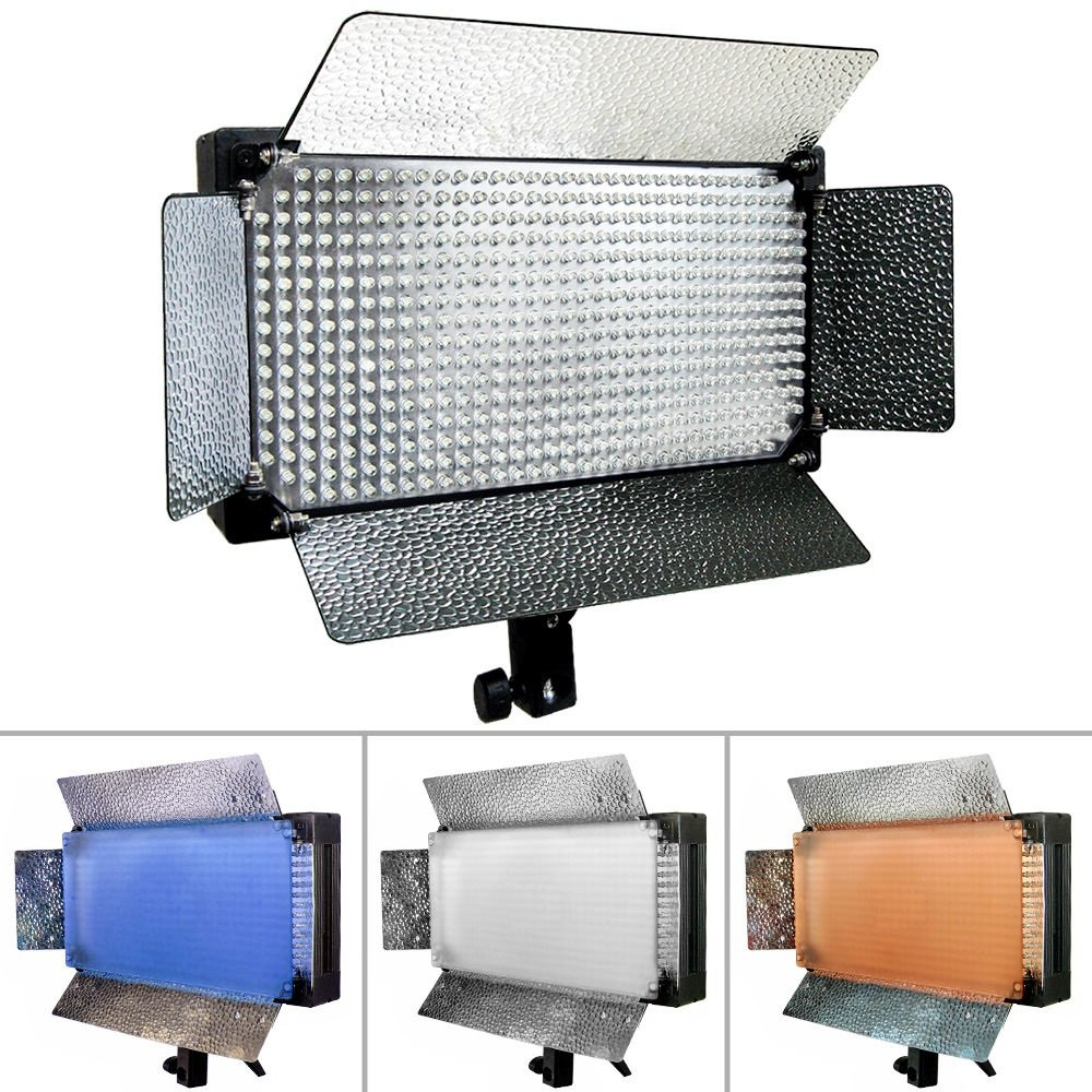 Fancierstudio 500 LED Light Panel with Dimmer Switch Led Video Lighting Led Lite Panel VL500