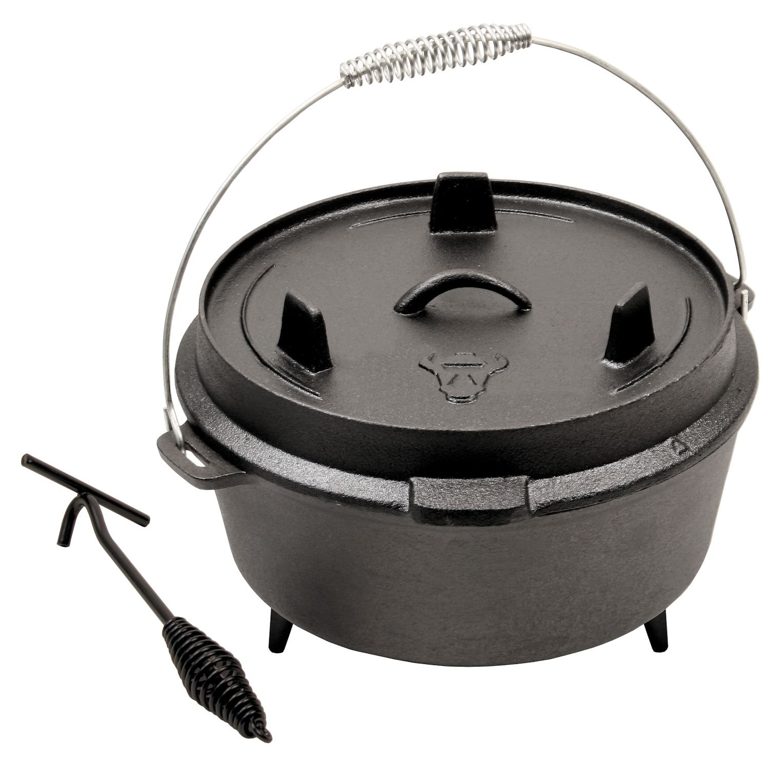 Dutch Oven DO9 Cast Iron Camping Cooking Pot 9QT Pre-seasoned CS-Trading