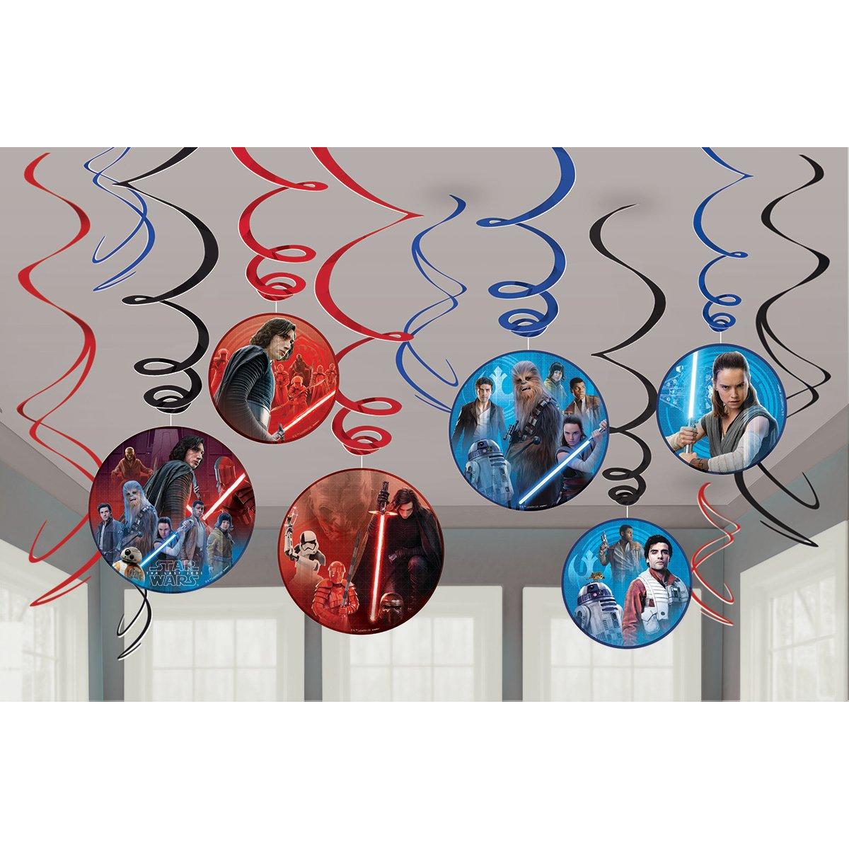 Party Favor Multicolor Amscan 670631Star Wars Episode 8 Swirl Value Pack