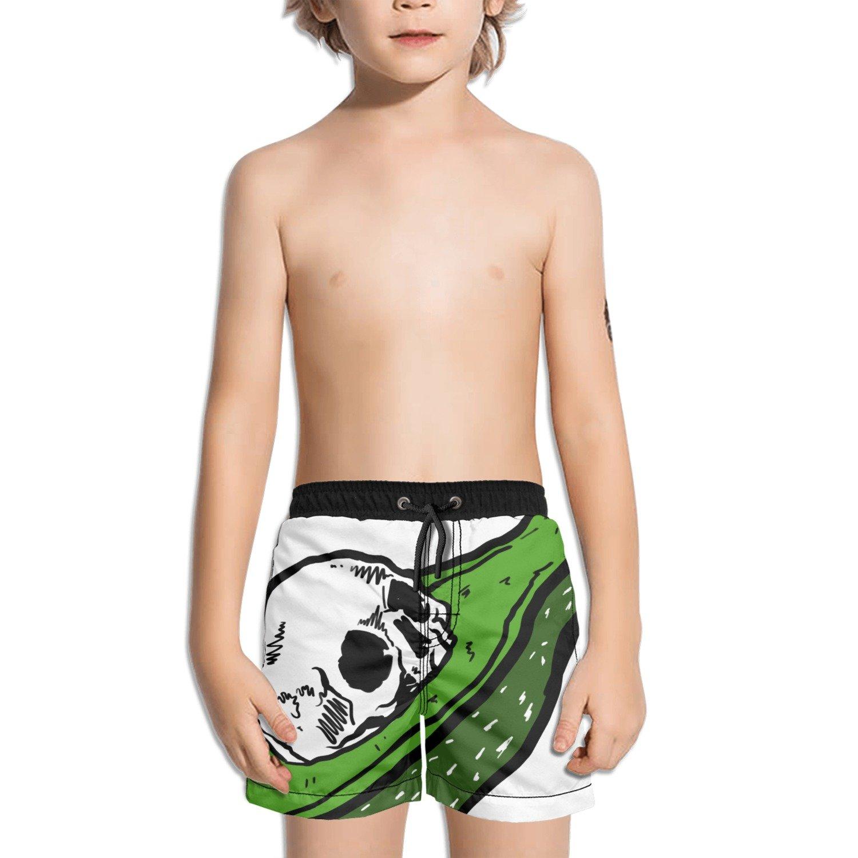 Trum Namii Boys Quick Dry Swim Trunks Skull in The Avocado Shorts